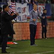 Coach Jürgen Klinsmann, USA, on the sideline during the USA Vs Ecuador International match at Rentschler Field, Hartford, Connecticut. USA. 10th October 2014. Photo Tim Clayton