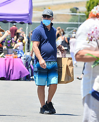 Mel Gibson demonstrates how not to wear a face covering while out in Malibu Ca. The actor was seen strolling around the Malibu farmer's market wearing a face mask but failed to cover his nose, exposing himself to possible dangers of viruses in the air. 12 Jul 2020 Pictured: Mel Gibson. Photo credit: Snorlax / MEGA TheMegaAgency.com +1 888 505 6342