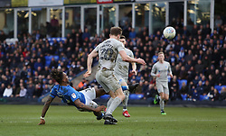 Ivan Toney of Peterborough United scores his sides second goal of the game against Portsmouth - Mandatory by-line: Joe Dent/JMP - 07/03/2020 - FOOTBALL - Weston Homes Stadium - Peterborough, England - Peterborough United v Portsmouth - Sky Bet League One