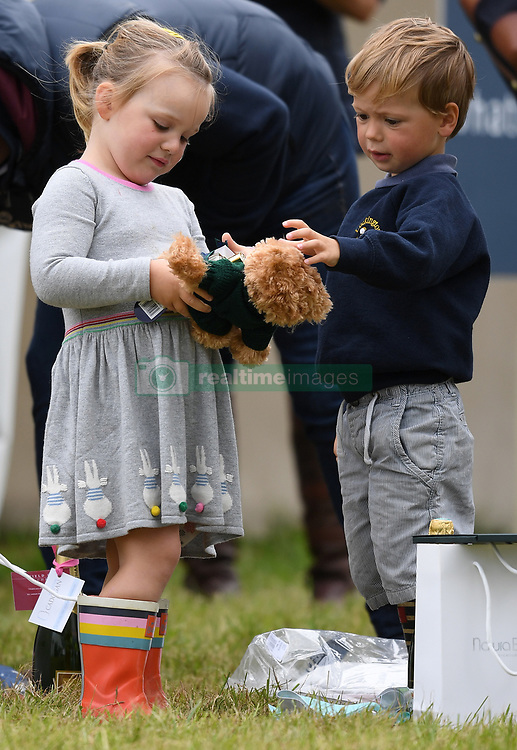 Members of The Royal Family attend the Whatley Manor Horse Trials at Gatcombe Park, Minchinhampton, Gloucestershire, UK, on the 8th September 2017. 08 Sep 2017 Pictured: Mia Tindall, Charlie Meade. Photo credit: James Whatling / MEGA TheMegaAgency.com +1 888 505 6342