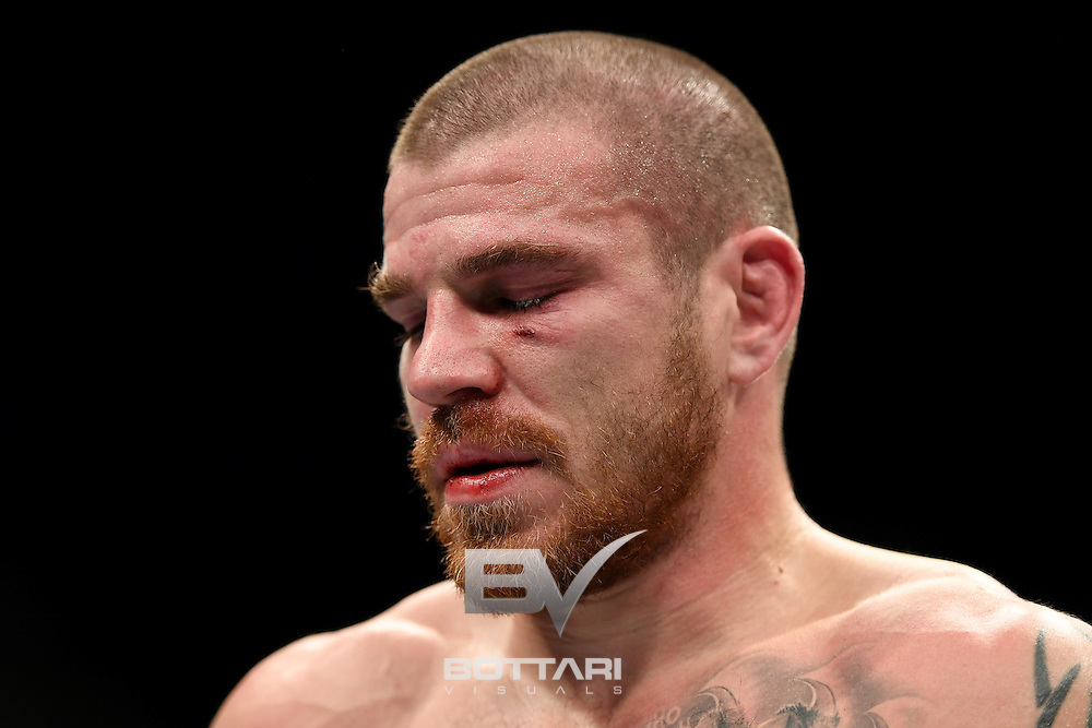 NEW YORK, NY - NOVEMBER 12:  Jim Miller of the United States looks on after his win by unanimous decision over Thiago Alves of Brazil in their lightweight bout during the UFC 205 event at Madison Square Garden on November 12, 2016 in New York City.  (Photo by Jeff Bottari/Zuffa LLC/Zuffa LLC via Getty Images)