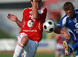 Ivan Jolic (12) of Interblock vs Gregor Bunc (11) of Nafta at 7th Round of PrvaLiga Telekom Slovenije between NK Interblock vs NK Nafta Lendava, on September , 2008, in ZAK stadium in Ljubljana, Slovenia. Interblock won the match 3:1. (Photo by Vid Ponikvar / Sportal Images)