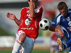 Ivan Jolic (12) of Interblock vs Gregor Bunc (11) of Nafta at 7th Round of PrvaLiga Telekom Slovenije between NK Interblock vs NK Nafta Lendava, on September , 2008, in ZAK stadium in Ljubljana, Slovenia. Interblock won the match 3:1. (Photo by Vid Ponikvar / Sportal Images)