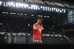 20 September 2017 -  EFL Cup (Third round) - Chelsea v Nottingham Forest - Eric Lichaj of Nottingham Forest throws away his water bottle - Photo: Marc Atkins/Offside