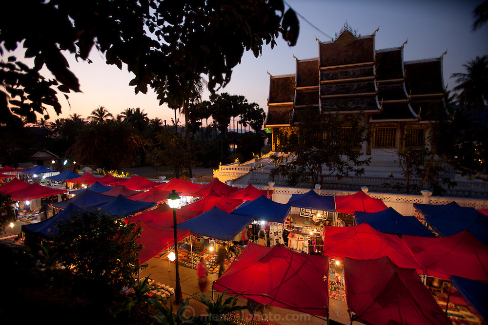 Night market, Luang Prabang, Laos.