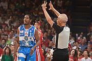 DESCRIZIONE :  Lega A 2014-15  EA7 Milano -Banco di Sardegna Sassari playoff Semifinale gara 7<br /> GIOCATORE : Dyson Jerome<br /> CATEGORIA : Low Esultanza Mani  Arbitro Referee<br /> SQUADRA : Banco di Sardegna Sassari<br /> EVENTO : PlayOff Semifinale gara 7<br /> GARA : EA7 Milano - Banco di Sardegna Sassari PlayOff Semifinale Gara 7<br /> DATA : 10/06/2015 <br /> SPORT : Pallacanestro <br /> AUTORE : Agenzia Ciamillo-Castoria/Richard Morgano<br /> Galleria : Lega Basket A 2014-2015 Fotonotizia : Milano Lega A 2014-15  EA7 Milano - Banco di Sardegna Sassari playoff Semifinale  gara 7<br /> Predefinita :