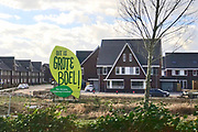 Nederland, Nijmegen, 5-3-2019Stadsuitbreiding met nieuwbouw in de nieuwe wijk De Grote Boel, onderdeel van de vinex wijk waalsprong nijmenen noord. Nieuw Noord. Foto: Flip Franssen