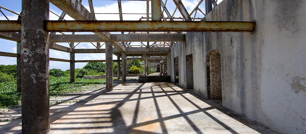 Unfinished Buildings with Open Roofs and Beams, Fiji