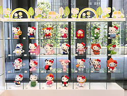 May 23, 2017 - Tokyo, Japan - A Sanrio Collection of Hello Kitty in Japan can be seen at an exhibition near the Hibiya Park in central Tokyo. The exhibition is shown to the public as part of a Sanrio campaign in Japan. The exhibition is the only one in Japan and is open to the public between ten in the morning to five o'clock in the afternoon. May 23, 2017. Photo by: Ramiro Agustin Vargas Tabares (Credit Image: © Ramiro Agustin Vargas Tabares via ZUMA Wire)