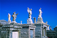 Statues and above ground graves, St. Louis Cemetery, New Orleans, Louisiana USA