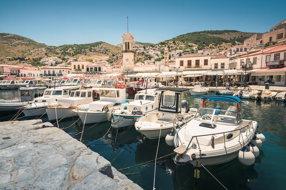 Hydra Port at Hydra Island, Greece