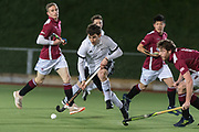Southgate's @timmysmyth Richmond v Southgate - East Conference Men's Hockey League, The Quinton Hogg Memorial Ground, London, UK on 10 February 2018. Photo: Simon Parker #hockey #fieldhockey #Southgate #Richmond #Englandhockey #MHL #eastconference