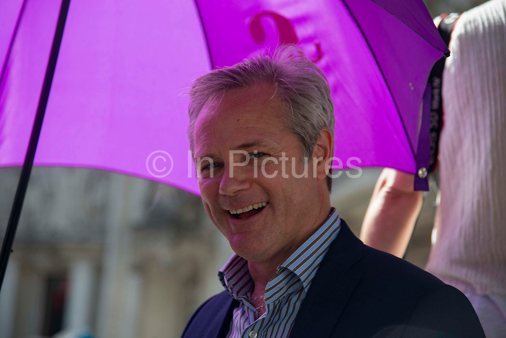 Leader of UKIP, Richard Braine outside the Supreme Court on day three of the hearing to rule on the suspension of parliament. Supreme Court judges will decide if Prime Minister Boris Johnson acted unlawfully in advising the Queen to prorogue parliament, on September 19th 2019 in London, United Kingdom.