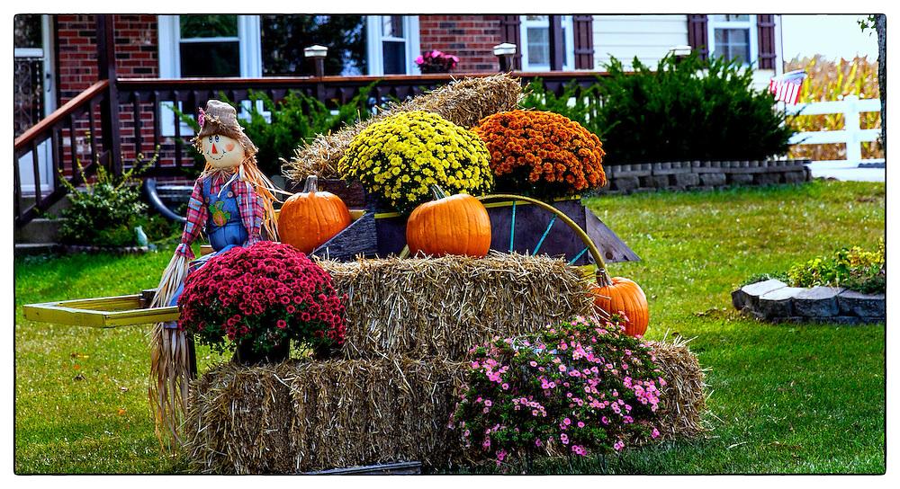 Seasonal Signs Of The Upcoming Halloween Holiday Start To Take Shape As You Drive The Neighborhood