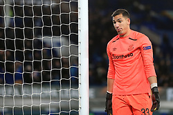 23rd November 2017 - UEFA Europa League - Group E - Everton v Atalanta - Everton goalkeeper Joel Robles pulls a funny face - Photo: Simon Stacpoole / Offside.
