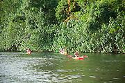 Kayakers, Wailua River, Kauai, Hawaii