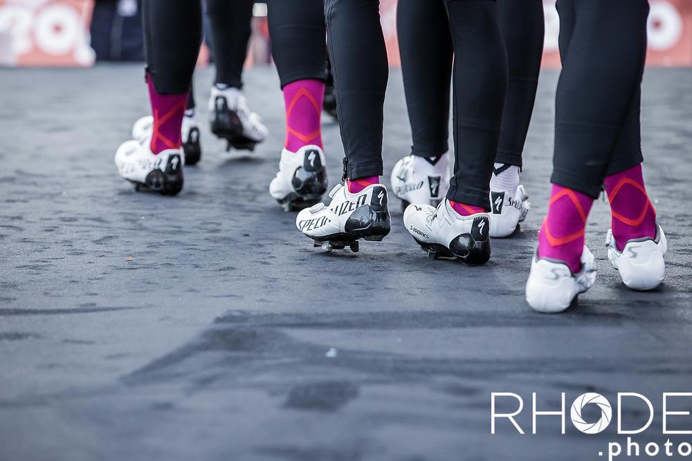 Team SDWorx pre race team presentation<br /> <br /> 7th Strade Bianche Women Elite <br /> Siena > Siena 136km<br /> <br /> ©RhodePhoto