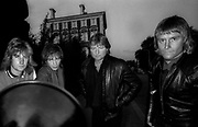 """ASIA london 1981 photosession. Geoff Downes, Carl Palmer, Billy Sherwood, Ron """"Bumblefoot"""" Thal"""