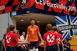 17-09-2019 NED: EC Volleyball 2019 Netherlands - Estonia, Amsterdam<br /> First round group D Netherlands win 3-1 / Ewoud Gommans #9 of Netherlands