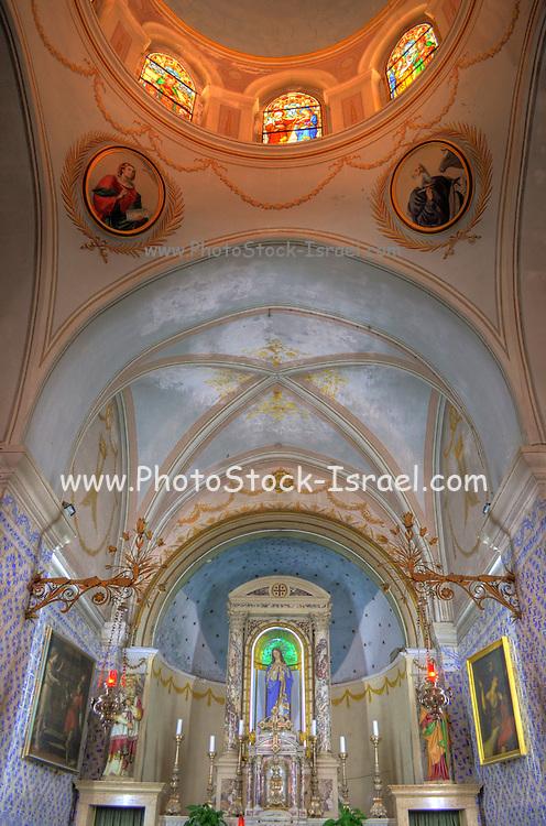 Israel, Jerusalem, Ein Karem, Interior of John the Baptist church AKA St John ba'harim