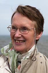 Portrait of Elderly woman by the sea,