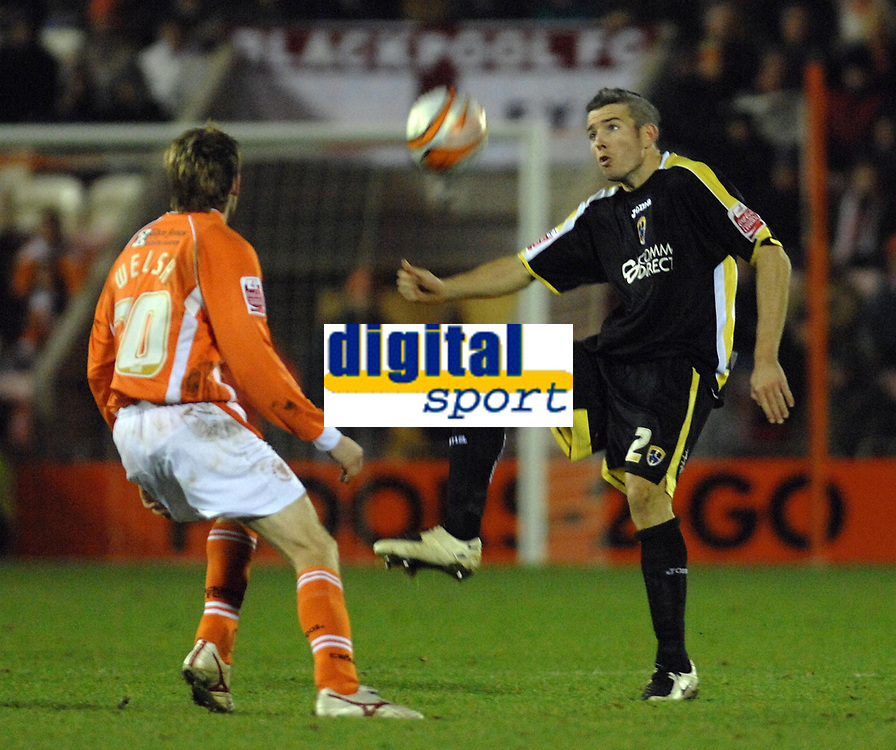 MATTHEW POVER PICTURE                                                +447971 184305<br /> <br /> 11/12/07 .... Blackpool v Cardiff<br /> Blackpool's Andy Welsh and Cardiff's Kevin McNaughton.