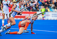 MONCHENGLADBACH  - Freeke Moes (Ned)   met links Kira Horn (Ger) .  Pro League  Duitsland-Nederland (0-1) dames .   COPYRIGHT KOEN SUYK