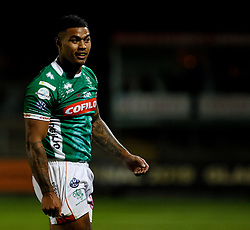 Benetton Treviso's Monty Ioane<br /> <br /> Photographer Simon King/Replay Images<br /> <br /> Guinness PRO14 Round 1 - Dragons v Benetton Treviso - Saturday 1st September 2018 - Rodney Parade - Newport<br /> <br /> World Copyright © Replay Images . All rights reserved. info@replayimages.co.uk - http://replayimages.co.uk