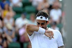 July 7, 2018 - Angleterre - Wimbledon - Fabio Fognini Italie (Credit Image: © Panoramic via ZUMA Press)