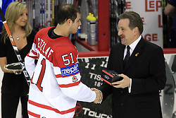 Ryan Getzlaf the best player of the ice-hockey game Canada vs Finland at Qualifying round Group F of IIHF WC 2008 in Halifax, on May 12, 2008 in Metro Center, Halifax, Nova Scotia, Canada. Canada won 6:3. (Photo by Vid Ponikvar / Sportal Images)