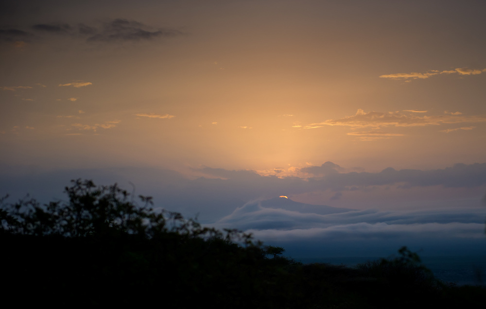 Sunset at the Kirumuru lodge