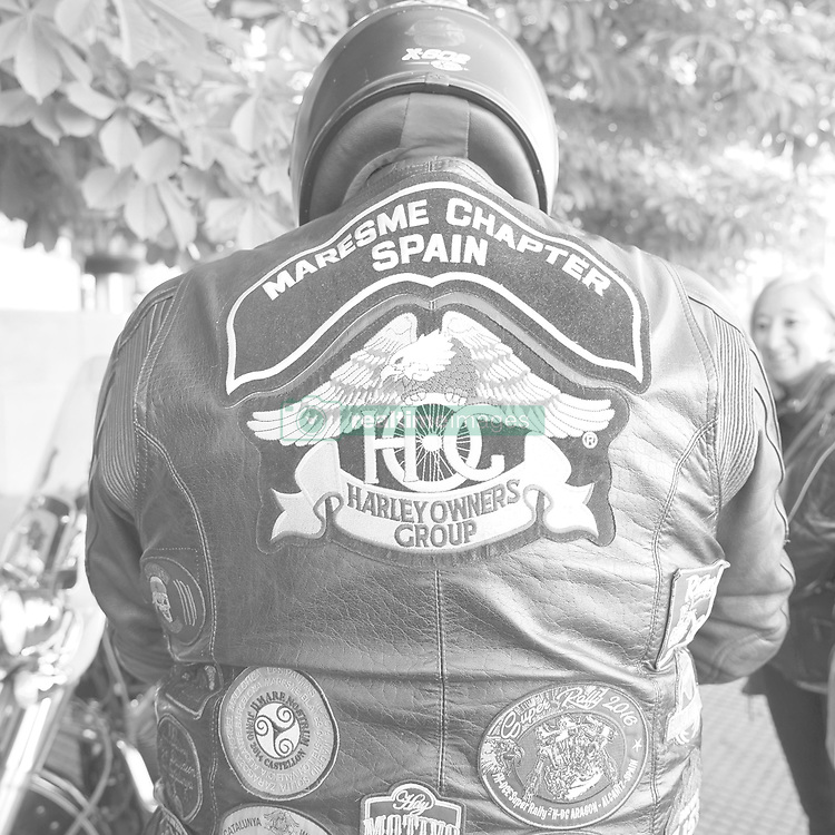 May 12, 2019 - Madrid, Spain - (EDITOR'S NOTE: Image was converted to black and white) Harley-Davidson concentration, More than 1,500 Harley-Davidson flood Madrid, in Madrid on May 12, 2019. spain  (Credit Image: © Oscar Gonzalez/NurPhoto via ZUMA Press)
