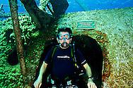 Steven Smeltzer on USS Kittiwake, Grand Cayman