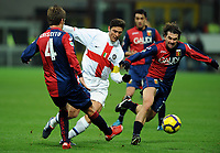 """Javier ZANETTI Inter, Omar MILANETTO Genoa<br /> Milano 07/3/2010 Stadio """"Giuseppe Meazza""""<br /> Inter Genoa<br /> Campionato Italiano Serie A 2009/2010<br /> Foto Nicolo' Zangirolami Insidefoto"""