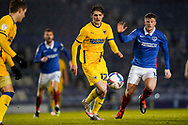 Jack Rudoni of AFC Wimbledon in action during the EFL Sky Bet League 1 match between Portsmouth and AFC Wimbledon at Fratton Park, Portsmouth, England on 19 January 2021.