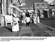 Lady Anne and Mr. Matthew Carr. Wedding at Badminton. 26 March 1988. Film 88231f24<br />© Copyright Photograph by Dafydd Jones<br />66 Stockwell Park Rd. London SW9 0DA<br />Tel 0171 733 0108