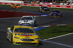 September 30, 2018 - Concord, North Carolina, United States of America - Ryan Blaney (12) races during the Bank of America ROVAL 400 at Charlotte Motor Speedway in Concord, North Carolina. (Credit Image: © Chris Owens Asp Inc/ASP via ZUMA Wire)