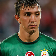 Galatasaray's Fernando Muslera  during their Turkish Superleague soccer derby match Besiktas between Galatasaray at the Inonu Stadium at Dolmabahce in Istanbul Turkey on Thursday, 26 August 2012. Photo by TURKPIX