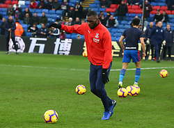 January 12, 2019 - London, England, United Kingdom - London, England - 12 January, 2019.Crystal Palace's Christian Benteke during the pre-match warm-up .during English Premier League between Crystal Palace and Watford at Selhurst Park stadium , London, England on 12 Jan 2019. (Credit Image: © Action Foto Sport/NurPhoto via ZUMA Press)