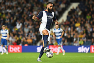 West Bromwich Albion defender Kyle Bartley (5) controls the ball during the EFL Sky Bet Championship match between West Bromwich Albion and Queens Park Rangers at The Hawthorns, West Bromwich, England on 24 September 2021.