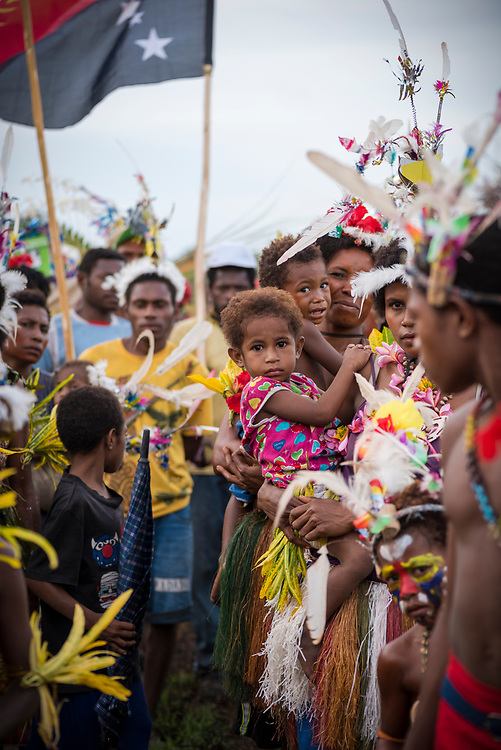 Mbore adults and children celebrate the Mborena Kam New Testament dedication on July 26, 2017, in Madang Province, Papua New Guinea. The work to translate the New Testament into this language, one of more than 800 in Papua New Guinea, took over 30 years.
