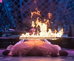 The Timbuktu Tumblers. Cirque Berserk! photocall at the at the Festival Theatre, Edinburgh.