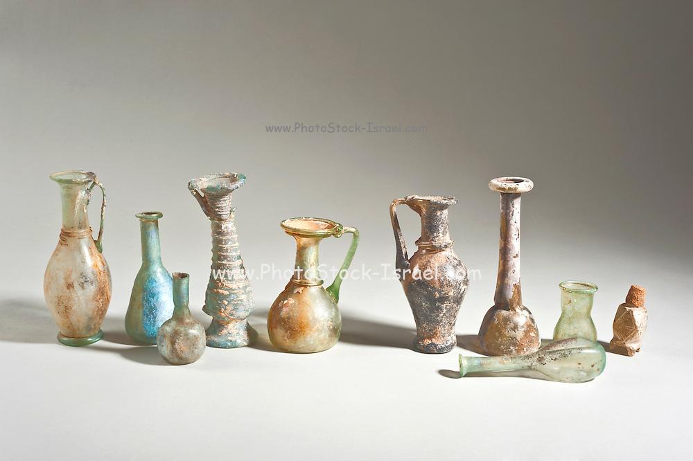 Roman and Islamic period glass bottles