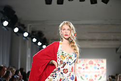 July 4, 2017 - Berlin, Berlin-Mitte, Germany - Models are wearing Lena Hoschek collection on the catwalk of   Mercedes-Benz Fashion Week. (Credit Image: © Simone Kuhlmey/Pacific Press via ZUMA Wire)