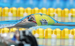 Aug. 24, 2018 - Jakarta, Indonesia - XU JIAYU of China competes during men's 4x100m medley relay final of swimming at the 18th Asian Games in Jakarta, Indonesia. China won the gold medal. (Credit Image: © Fei Maohua/Xinhua via ZUMA Wire)