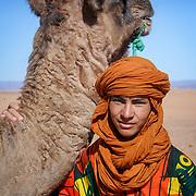 Camel and local boy, Tagounite, Morocco (November 2006)