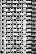 Abstract image of a high-rise apartment building in Kashimada, Kawasaki, Kanagawa, Japan. Saturday December 14th 2019