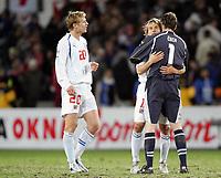 Fotball<br /> VM-kvalifisering <br /> 12.11.2005<br /> Norge v Tsjekkia<br /> Norway v Czech Republic<br /> Foto: Morten Olsen, Digitalsport<br /> <br /> L-R: Jiri Jarosik - Pavel Nedved and Peter Cech
