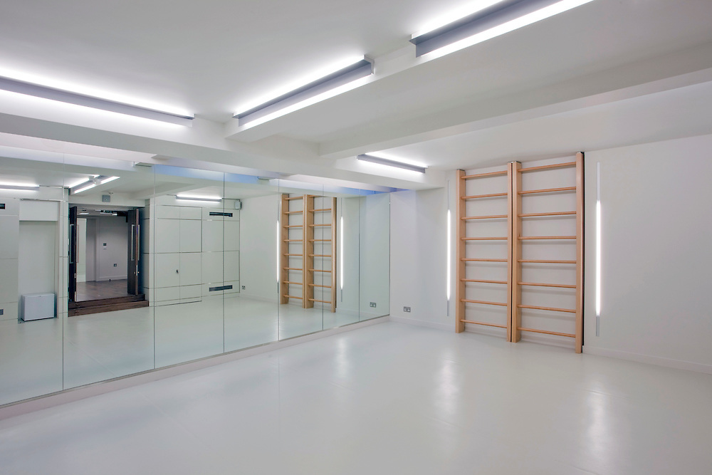 office gym basement mirrors