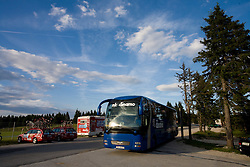 Bus of NK Dinamo at Rogla tourist resort after 2nd stage of Tour de Slovenie 2009 from Kamnik to Ljubljana, 146 km, on June 19 2009, Rogla, Slovenia. (Photo by Vid Ponikvar / Sportida)